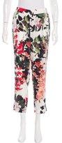 Roberto Cavalli Floral Print Cropped Pants