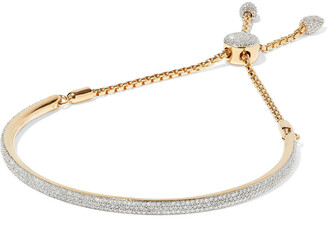 Monica Vinader Fiji 18-karat Gold-plated Sterling Silver Diamond Bracelet