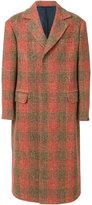 Mp Massimo Piombo checked long coat