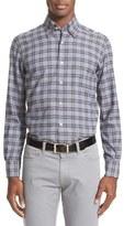 Canali Men's Brushed Check Sport Shirt