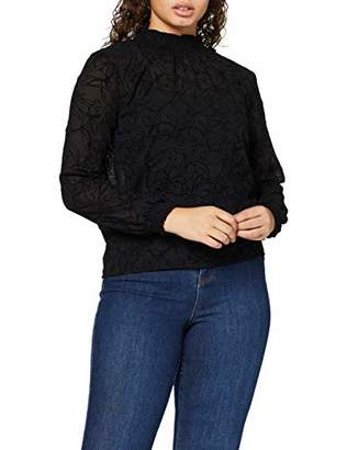 MinkPink Women's Shadows Flocked Blouse,(Size:Medium)