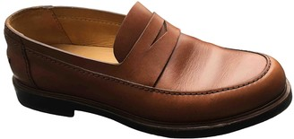 A.P.C. Brown Leather Flats