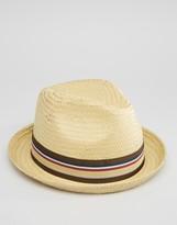 Brixton Fedora Straw Castor Hat