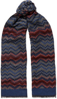 Missoni - Crochet-knit Wool And Silk-blend Scarf