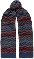 Missoni - Fringed Crochet-knit Wool And Silk-blend Scarf