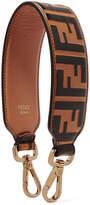 Fendi Embossed Leather Bag Strap - Tan