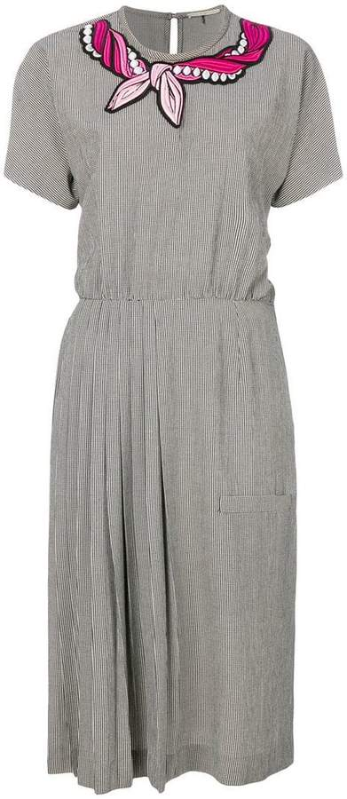 Marco De Vincenzo micro gingham pleated dress