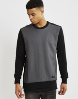 Religion Convert Texture Front Sweatshirt Black