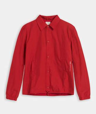 Wood Wood Red Polyester Kael Summer Jacket - SMALL - Red