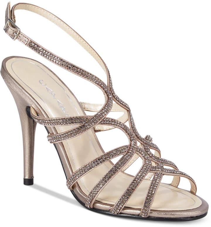 Caparros Helena Strappy Embellished Evening Sandals