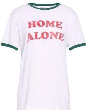 Zoe Karssen Printed Slub Cotton And Modal-blend Jersey T-shirt