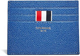 Thom Browne Men's Pebbled Leather Card Holder In Blue
