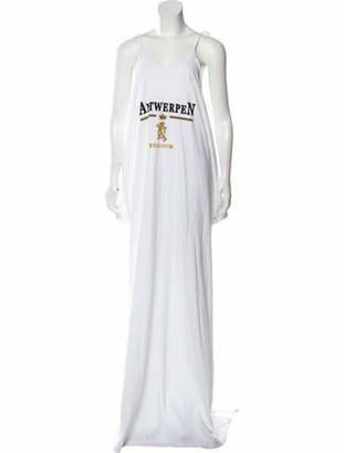Vetements Cold Shoulder Maxi Dress White