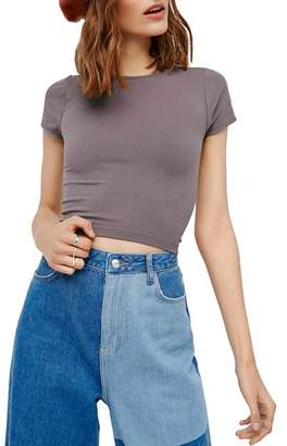 Free People Seamless Cropped Tee