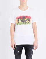Balmain Wolf eyes cotton-jersey t-shirt