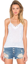 Monrow Lace Up Cami