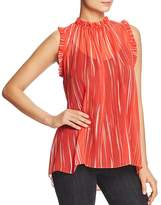 Elie Tahari Lucy Sheer Silk Blouse