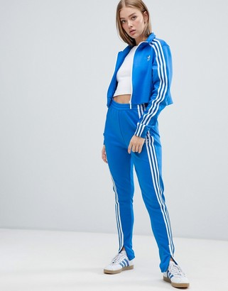 adidas three stripe track pant in blue