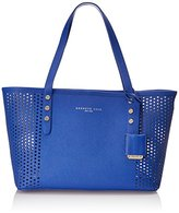 Kenneth Cole New York Dover Street Perforated Mini Tote Shoulder Bag