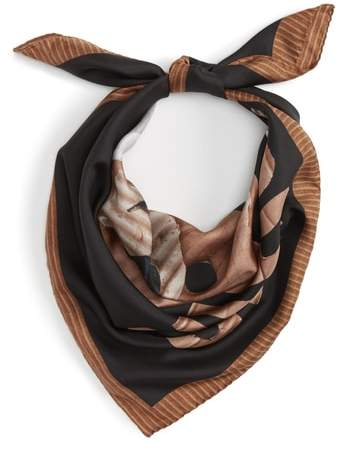 Moschino Women's Foulard Silk Square Scarf