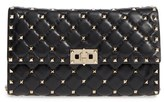 Valentino Rockstud Quilted Lambskin Leather Clutch - Black
