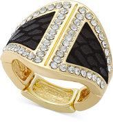 Thalia Sodi Gold-Tone Faux-Snake and Crystal Ring