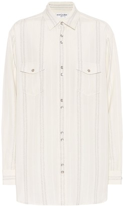 Saint Laurent Striped twill shirt