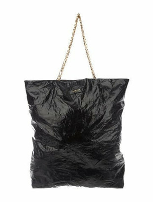 Lanvin Leather Carry Me Tote Black