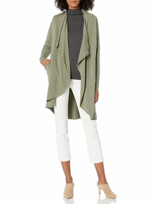 M Made in Italy Women's Open Front Cardigan with Long Sleeves Sweater