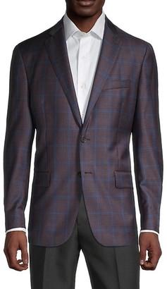 Hart Schaffner Marx Windowpane Check Wool Jacket