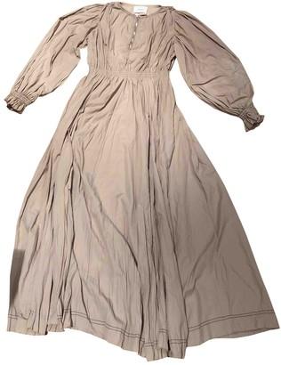 Barbara Casasola Beige Cotton Dress for Women