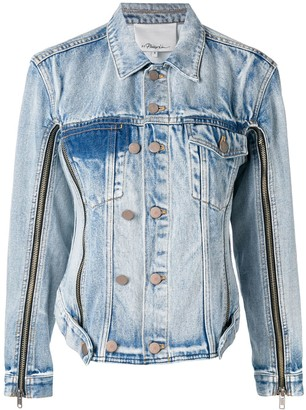 3.1 Phillip Lim Zip Details Denim Jacket