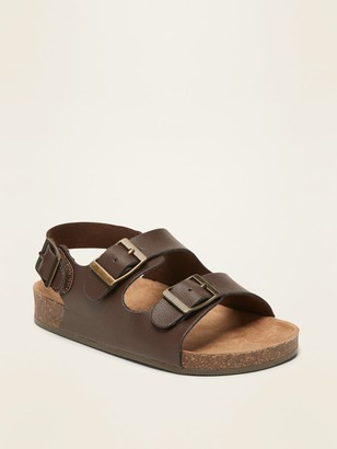 Old Navy Faux-Leather Double-Buckle Sandals for Toddler Boys