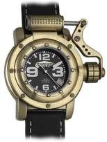 Orient #BEM5V001B Men's Facet Glass Gold Tone Stainless Steel Automatic Watch