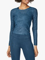 Sweaty Betty Momentum Gym Top, Beetle Blue Croc