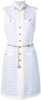 Gucci Short tweed dress with chain belt