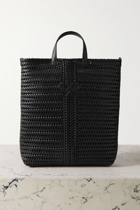 Anya Hindmarch Neeson Tall Woven Leather Tote - Black