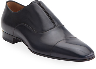 Christian Louboutin Men's Alpha Male Leather Slip-On Shoes