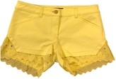 Roberto Cavalli Yellow Cotton - elasthane Shorts for Women