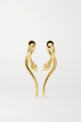 Ileana Makri Boa 18-karat Gold Earrings