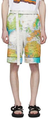 Sacai Multicolor World Map Shorts