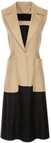 Harbison Sleeveless Long Linen Weave Jacket