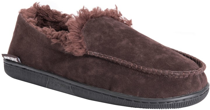 3b479ba3428 Men's Faux Suede Moccasin Slippers