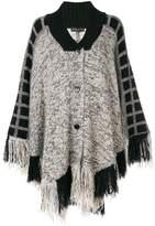 Etro knitted fringe cape