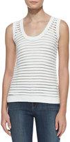J Brand Ready to Wear Shannon Sheer-Stripe Sweater Tank