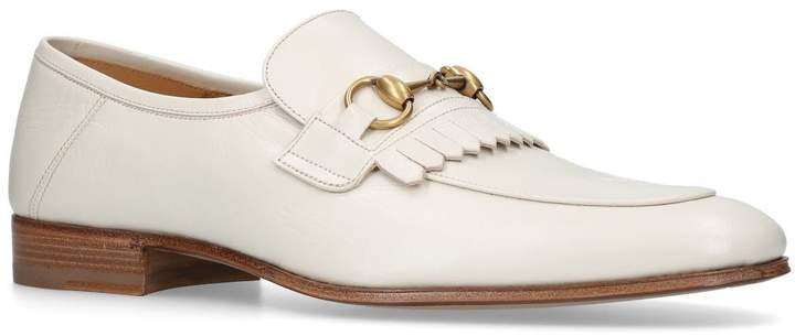 Gucci Leather Harbor Fringe Loafers