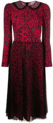 RED Valentino Leopard-Print Midi Dress