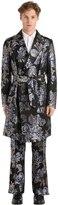 Christian Pellizzari Floral Jacquard Robe Style Coat