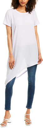 Eileen Fisher U-Neck Long Silk Tunic