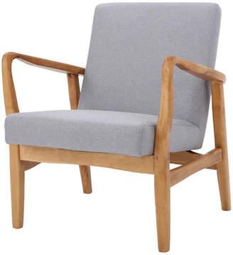 Gdfstudio GDF Studio Winford French-Style Wood Frame Club Chair, Gray/Walnut